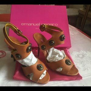 Emanuel Ungaro, leather, Sandals,multi color, 760.